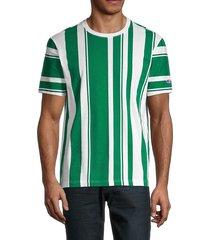 champion men's striped cotton t-shirt - chalk white - size l