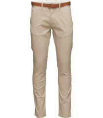 slhslim-yard white pepper pants w noos chinos byxor beige selected homme