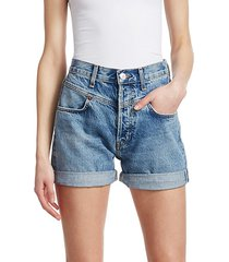 the 90s double yoke jean shorts