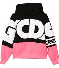gcds mini two-tone sweatshirt