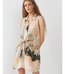 vestido beige desiderata carol