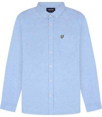 lyle and scott lw1302vtr lyle&scott regular fit light weight oxford shirt, x41 riviera