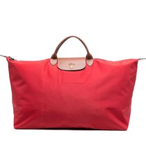 longchamp extra large le pliage travel bag - red