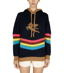 etro knit sweatshirt with pegaso