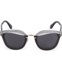 65mm cutout rectangular sunglasses