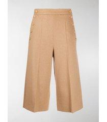 max mara virgin wool button shorts