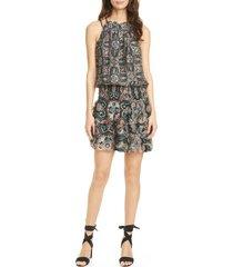 women's ramy brook brady paisley halter dress, size xx-small - black