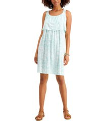 style & co petite printed tiered dress, created for macy's