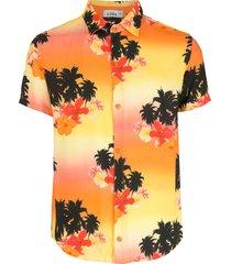 amir slama ilha de hibiscus shirt - multicolour