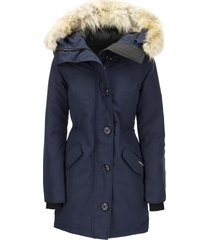 canada goose rossclair - parka with hood and fur coat