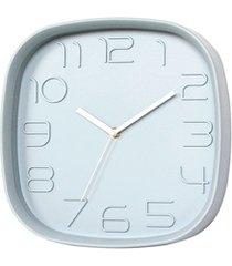 relógio de parede quadrado 28cm cinza