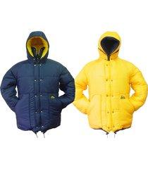 jaqueta dupla face polar térmica blue acampar