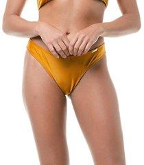 calcinha trituê trituê biquíni lisa asa delta tanga simples amarelo