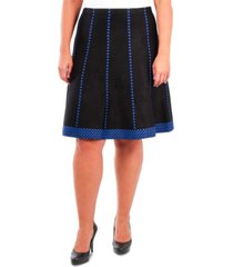 ny collection plus size fit & flare pull-on skirt