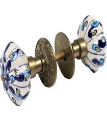 maçaneta- pashmina- puxador porta ceramica- azul