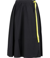 aalto belted wrap front skirt - blue