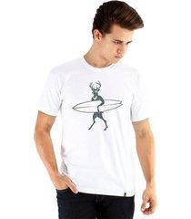 camiseta ouroboros manga curta deer surfer masculiana