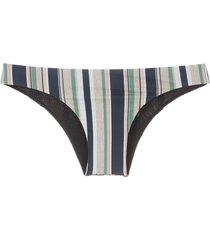 track & field horizonte striped bikini bottom - multicolour