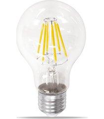 lâmpada led bulbo com filamento 4w bivolt luz âmbar