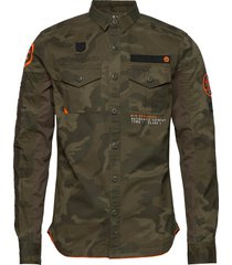 military storm shirt overhemd casual groen superdry