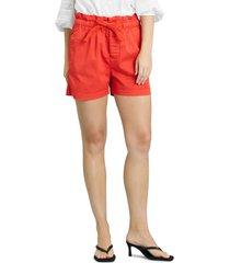 women's sanctuary soho drawstring stretch cotton shorts, size 31 - red
