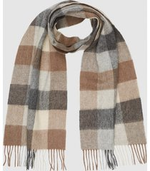 reiss oliver - wool cashmere blend scarf in oatmeal, mens