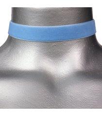 16mm plain light blue velvet ribbon choker necklace