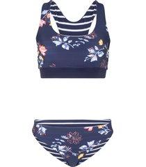 bikini double face a bustino (blu) - bpc bonprix collection