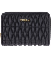 furla cometa quilted leather wallet