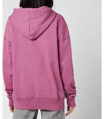 isabel marant étoile women's mansel hoodie - pink - fr 40/uk 12