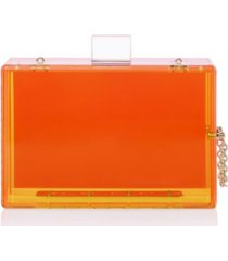 milanblocks trendy transparent acrylic clutch