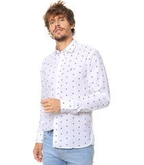 camisa blanca laundry ml claus slim estampada vte.4