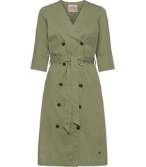 vinnie cole dress jurk knielengte groen mos mosh