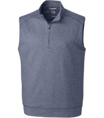 cutter & buck men's big & tall shoreline half zip vest