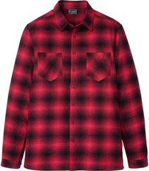 camicia  in flanella slim fit (rosso) - rainbow