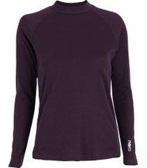 camisa segunda pele manga longa nord outdoor under basic - feminina - roxo escuro