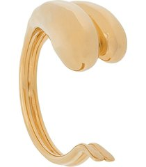 bottega veneta bulb-shape pull-on bracelet - gold