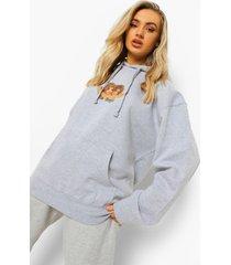 oversized angel hoodie, grey marl