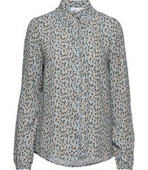 u1071, woven shirt l/s blouse lange mouwen blauw saint tropez