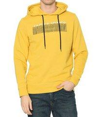 sweater jack & jones 12180441 jormash sweat hood fst spicy mustard
