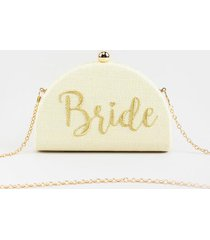 bride snap clutch - ivory