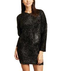 pan sweater dress with lurex