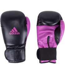 luvas de boxe adidas power 100 smu colors - 16 oz - adulto - preto/rosa esc