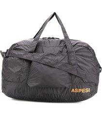 aspesi shell duffle bag - black