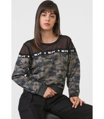 blusa my favorite thing(s) camuflada verde