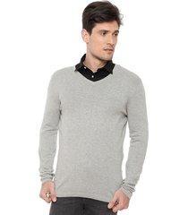 sweater   hnn gris - calce regular