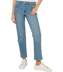 jeans girlfriend medium indigo azul gap