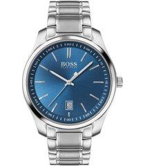 boss men's circuit stainless steel bracelet watch 42mm
