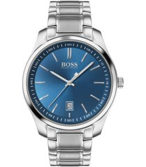 boss men's circuit stainless steel bracelet watch 42mm
