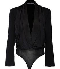 patchwork panel bodysuit